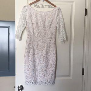 Cute white lace Lulus dress